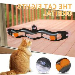 Funny Cat Toys Interactive Track Ball Cat Window Suction Cup