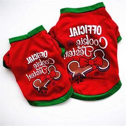 succeedtop Funny Christmas Dog Cat Clothing Cotton T shirt C