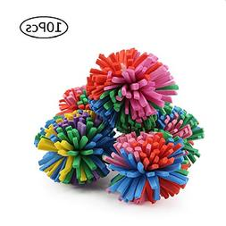 "Stock Show 10PCS 1.6"" Funny Colorful EVA Flower Ball Foam Ca"