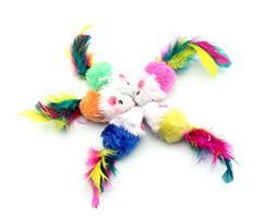 Ace Select Cat Toys Mice 5Pcs Gravel Sand Sounds Faux Fake A