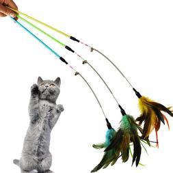 Funny Feather Spring <font><b>Kitten</b></font> <font><b>Cat