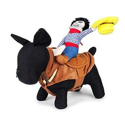 LUCKSTAR Funny Pet Costume - Novelty Pet Supplies Cowboy Rid