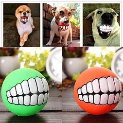 DeemoShop Funny Pets Dog Puppy Cat Ball Teeth Toy PVC Chew S