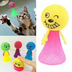 Funny Pop Up Jumping Toy Emoji Toys for Kids Pets Cat Dog Gi