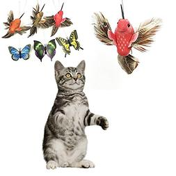 EELHOE Funny Toy For Pet Cats, Funny Rotating Electric Flyin