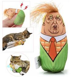 Funny Trump Head Maize Design Cat Toys Stuffed Plush Corn Pe