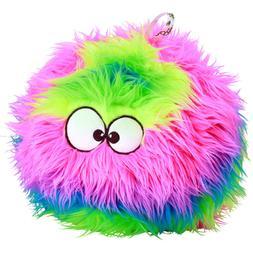 goDog Furballz Rainbow Plush Dog Toy with Chew Guard Technol