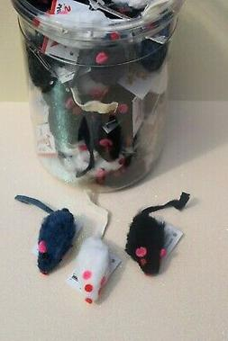 FURRY MICE CAT TOYS - Lots 5/10/30/60 Real Animal Fur Small