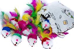 Animal Kingdom Furry Pet Cat Toys Mice Catnip  Colorful Faux