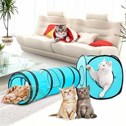 gift Cat Toys Cat Tunnel and Cat Cube Pop Up Collapsible Kit