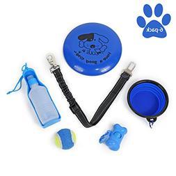 Speedy Pet 6 Pack Pet Outdoor Travel Gift Set Kit,Dog Flying