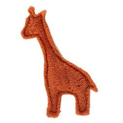 QINF Giraffe Shape Tooth Cleaning Green Loofah Toys