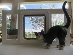 Cat American Toy CAT glass sash window, white vinyl,16-20 wi