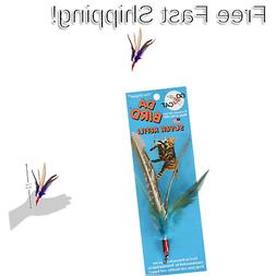 NEW GoCat Da Bird Feather Super Refill Cat Toys Assorted Col