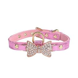 LTBling Gold Bling Diamond Giltter Leather Fashion Collar wi