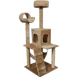 "Goplus 52"" Cat Kitty Tree Tower Condo Furniture Scratch Post"