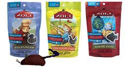 My Little Lion Grain Free Cat Treats 3 Flavor with Toy Bundl