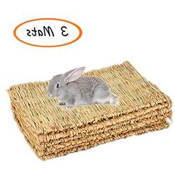 Grass Mat,Woven Bed Mat for Small Animal,Bunny Bedding Chew