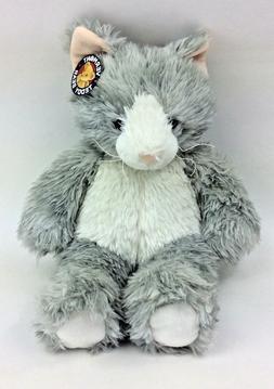 Vermont Teddy Bear Grey Kitty Cat Furry White Plush Stuffed