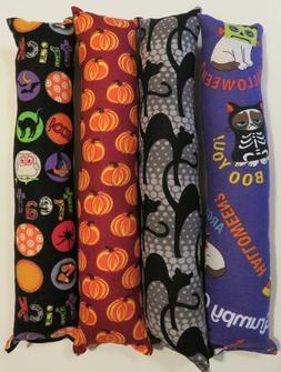 "Halloween kicker toys w/ catnip- 11"" handmade cat activity t"