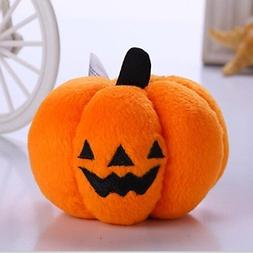 QINF Halloween Plush Pumpkin for Dogs and Cats