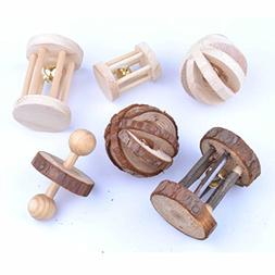 pranovo 6 Pack Hamster Wooden Chewing Toys Pets Teeth Care M