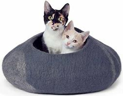 Twin Critters Handcrafted Cat Cave Bed  - Felted From 100 Pe