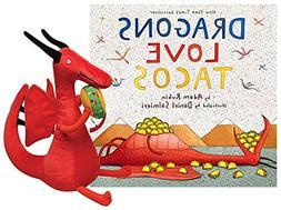 "Dragons Love Tacos Large Hardcover Book & 10"" Dragon Plush G"