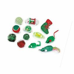 Zanies Fun Filled Holiday Cat Stocking with Assorted Cat Toy