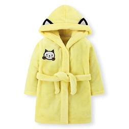 Fankeshi Kids Hooded Robe Soft Fleece Bathrobe Children Paja
