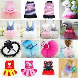 Hot Various Pet Puppy Small Dog Cat Vest Lace Strip Dress Ap