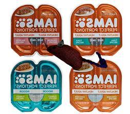 Iams Perfect Portions Grain Free Pate Cat Food 4 Flavor 8 Ca