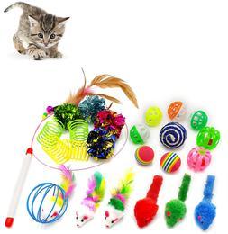 iCAGY Cat Toys for Indoor Cats Interactive, 24 Assorted Cat