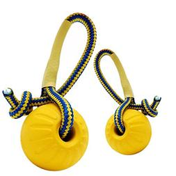 Iuhan 1PC Indestructible Solid Rubber Ball Pet Dog Training