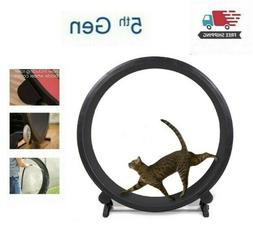 Indoor Cat Running Exercise Wheel Kitty Training Toy Treadwh