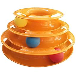 Interactive Cat Ball Toy|3-Level Tower of Tracks Ball Cat/Kt
