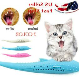 Interactive Cat Toothbrush Pet  Molar Stick Silicone Teeth C