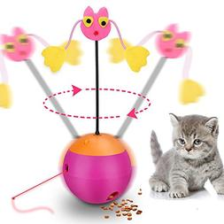 Wisdom Interactive Cat Toy Automatic Spinning Pet Toys 3 In