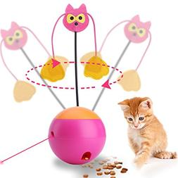 JUOIFIP Interactive Cat Toy Automatic Spinning Cat Toy Ball