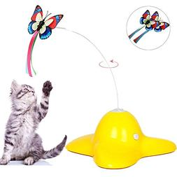 Patgoal Interactive Cat Toy Electric Rotating Butterfly Cat