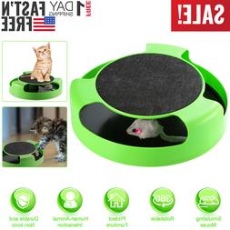 Interactive Cat Toy Rotating Mouse Hide And Seek Automatic M