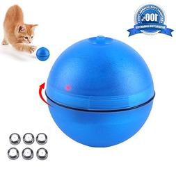 JUOIFIP Interactive Cat Toy 360 Degree Self Rotating Ball Au