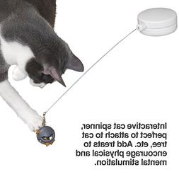 PetFusion Interactive Cat Toy  - Rotating Cat Spinner w/mult