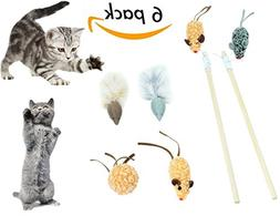 SCENEREAL Best Interactive Cat Toys Mouse Set Cute Funny Mic