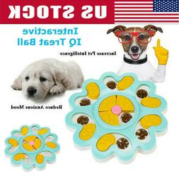 Interactive Dog & Cat Toy Food Treat Dispensing Food Puzzle