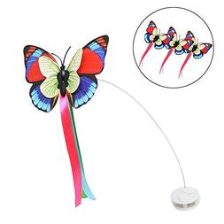 AmazeOn Interactive Electric Rotating Flutter Butterfly Cat