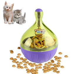 Airsspu Interactive Dog Toy - Food Dispenser Ball Toy for Sm