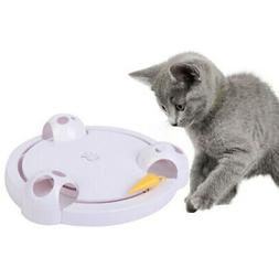 US Interactive Mouse Pounce Cat Toy Automatic Rotating Cat P