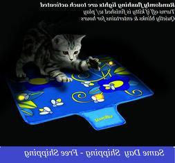 Interactive Nighttime Quiet Cat Toy Glow Flashing Lights Fir