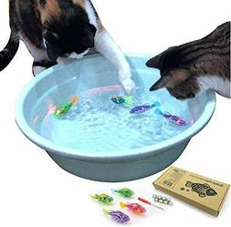Interactive Swimming Robot Fish Toy for Cat with LED Light 4